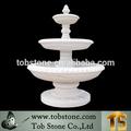 White marble garden water fountain