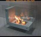 Free standing Steel ethanol fireplace