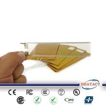 Transaparent electronic flexible film heating element