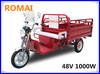 Hot sale ! three wheel electric scooter/ cargo tricycle with DC motor made in China