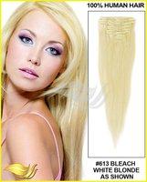 2014 hot sale 6A Grade non clip hair extensions
