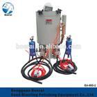 BA-600-2 portable sandblasting machine with 2 spray guns,suitable for large machinery