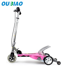 China manufacturer CE approval Flashing front wheel folding foot scooters kid kick scooters
