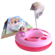 Home & Garden Pet Products Pet Toys With Mouse Plastic Cat Toy