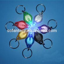 UV led light up keychain,UV light led keychain,purple colour led keychain light