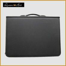 Black zippered ring binder/presentation portfolio with pocket