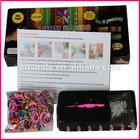 2014 Multi-color elastic loom band/ knitting loom set/loom bracelet kit