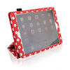 Red stand case for ipad 5 for ipad air leather flip case