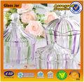 atacado 2014 vazio frasco dos doces em massa de vidro pequeno frasco de vidro transparente doces jar