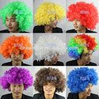 Cheap afro party wig Factory price Polypropylene Fibre 14 color