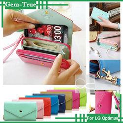 Crown Wristlet Leather Wallet Case Purse Cover For LG Optimus L90 L80 L70 Dual11