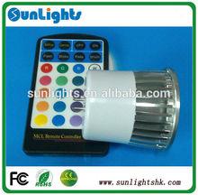 E27 MR16 gu10 dmx rgb led spotlights remote controller 5w osram cob spotlight