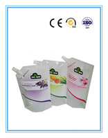 Colored printing plastic spout pouch