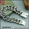 Cool Heavy Punk Skull Biker Chain Stainless Steel Bracelet 150g New Shangjie Jewelry