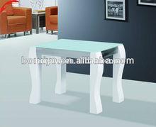 glass corner table and modern coffee table high gloss