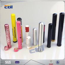 Empty aluminum cigarette tubes