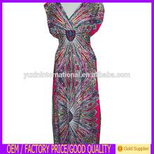 Moroccan Kaftan Chiffon Cute Embroidery Kaftan Dress Stylish For Women KF004