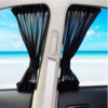 New Black Mesh Fabric Car Auto 60S Window Curtain Sunshade Set UV Protection Side Window Curtain 60cm
