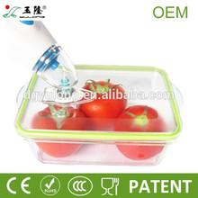 BPA free rectangular plastic vacuum food storage containers with pump,vacuum storage container for food