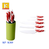 5pcs new design kitchen knife set with plastic block