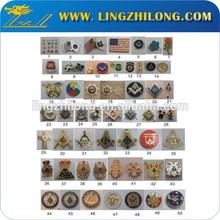 Custom made masonic metal car badge sticker