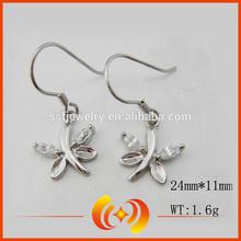 Fashion Dragonfly shape Silver Earrings Wholesale Sterling Silver Earrings Hook
