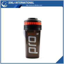 Custom Logo 500ml BPA Free Plastic Shaker Cup with Stainless a Steel Blender Ball