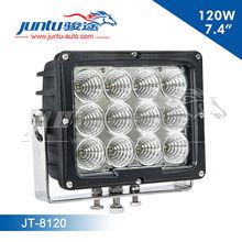 Guangzhou brightness new 7 inch car light, high power 12v CREE led led120w automobile led work light