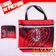 Guangzhou manufacture custom-made fashion large capacity nylon waterproof foldable shopping bag