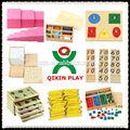 Mejor 2014 de madera vender los juguetes del montessori/modernos juguetes para los niños/montessori bloques de cilindros/qx-177d/1set=160 piezas