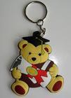 guangzhou manufacture wholesale custom 3D soft pvc/rubber teddy bear keychain