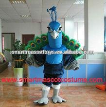 Quality peacock dance mascot costumes adult peacock mascot costume