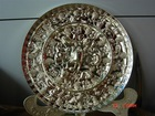 Factory directly supply arts and crafts the retro style metal round tray Paypal payment is ok
