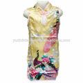 Chino de seda de la muchacha cheongsam los niños kimono, de seda de la muchacha cheongsam, los niños usan cq005