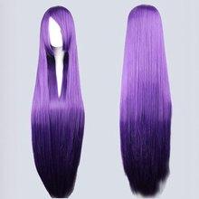 Wholesale High Quality 100Cm Long Straight Sengoku Basara-Akechi Mitsuhide Purple Cosplay anime wig