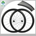 2014 bike carbon cycling clincher wheels carbon wheelset novatec hub new model dimple carbon wheelset 58mm