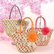 Handmade cheap summer corn straw beach bag