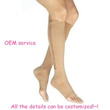 zipper compression stockings