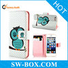 Wholesale Products Owl Wallet Leather Case for iPhone 5
