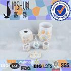 6 PC luster glaze mosaic design ceramic bathroom accessories
