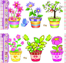 3D Potted Design Vinyl Wall Sticker For Home Decoration