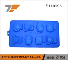 8 cavity different animals shaped chocolate molds ice tray silicone cake molds