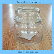 Vintage Clear Candle Canister Glass Corked Blown Cheap Small Decorative Mason Jars
