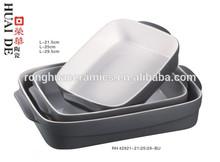 best selling products 2014 Grey Mat Rectangular ceramic Bakeware