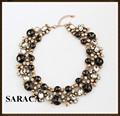 Collares de moda 2014 de la piedra preciosa fornido de la declaración del collar A663