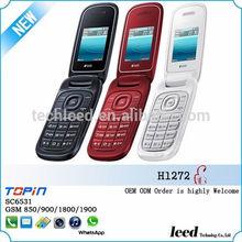 2014 New Fashional 1.77inch SC6531 Dual sim Quadband Whatsapp mini flip