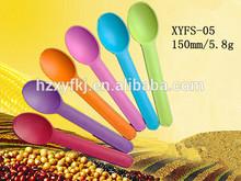 ecofriendly cornstarch colourful Biodegradable disposable ice cream plastic spoon