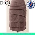 Nueva llegada de corte ceñido de la capa del algodón de la falda del a-line para mujeres en verano