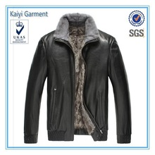 2014 fashion design style black cheap hot sale leather motorcycle jacket