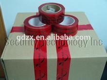 auto adhesivo de seguridad sello del cartón voidopen venta caliente de la cinta